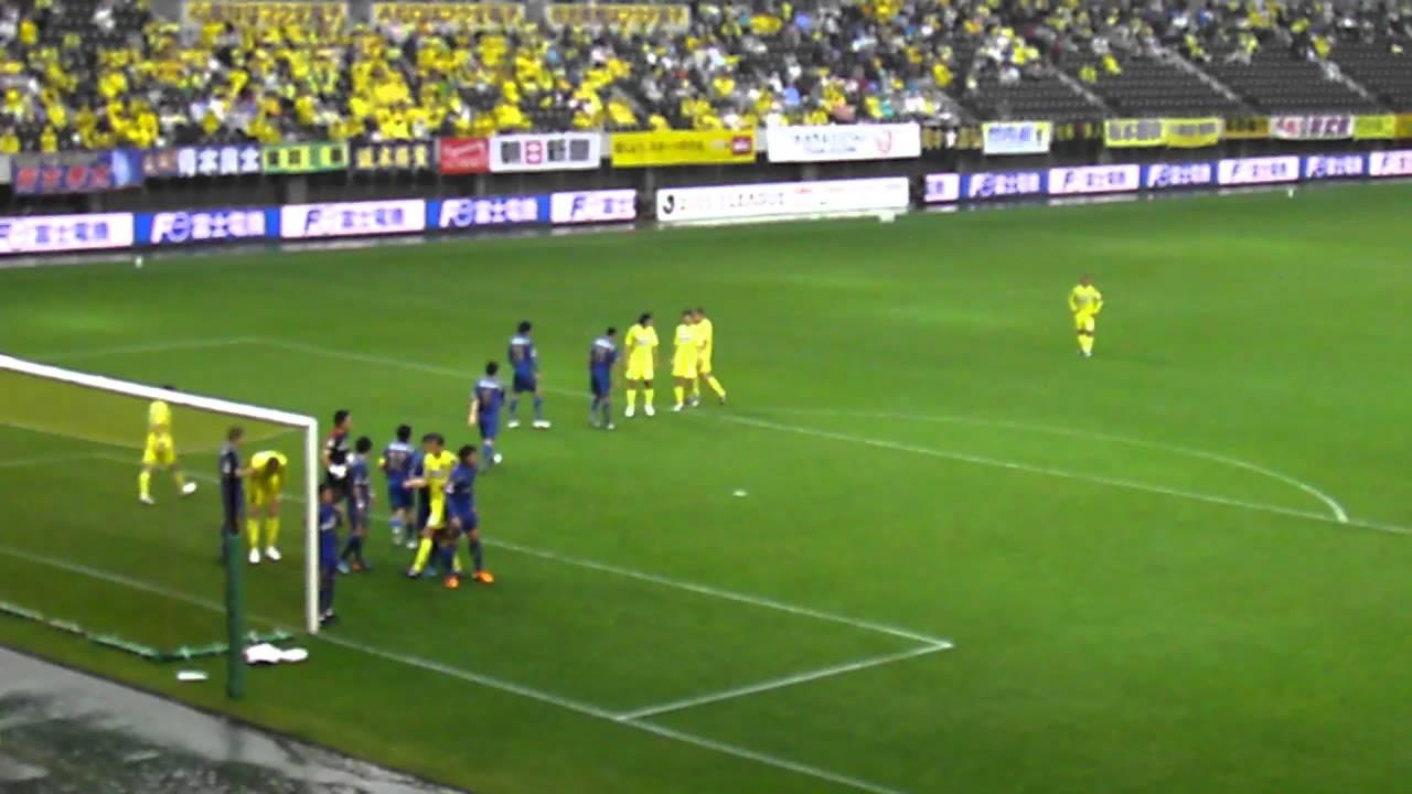 ジェフ千葉'11 vs大分@フクアリ 竹内彬ゴール(1-2) JEF United Chiba fans ...