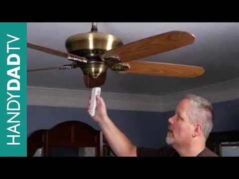 How To Install A Ceiling Fan Remote Control Youtube