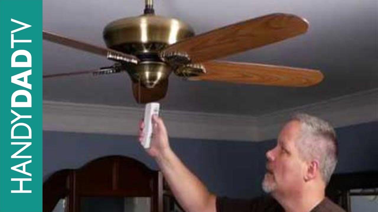 Install A Ceiling Fan Remote Control