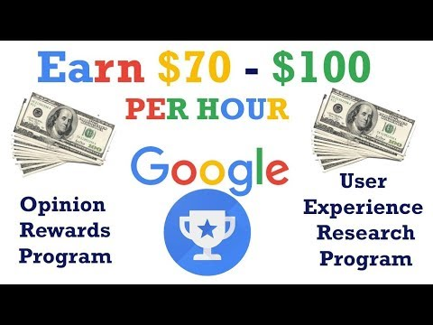 How To Earn $75 Per Hour From Google User research Program  Online Work From Home Job  2018