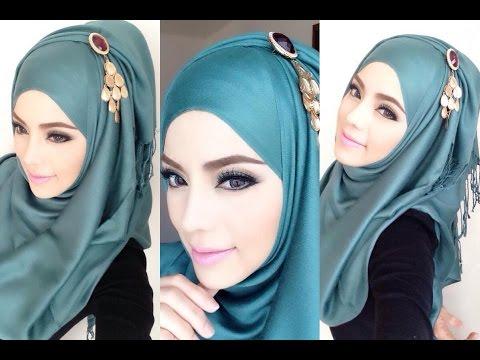 Hijab Tutorial 15 Cara Memakai Jilbab Pashmina Simple Blue