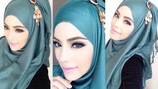 🌟Hijab Tutorial-15🌟 Cara Memakai Jilbab Pashmina ❤ Simple Blue ❤ (Up to date)