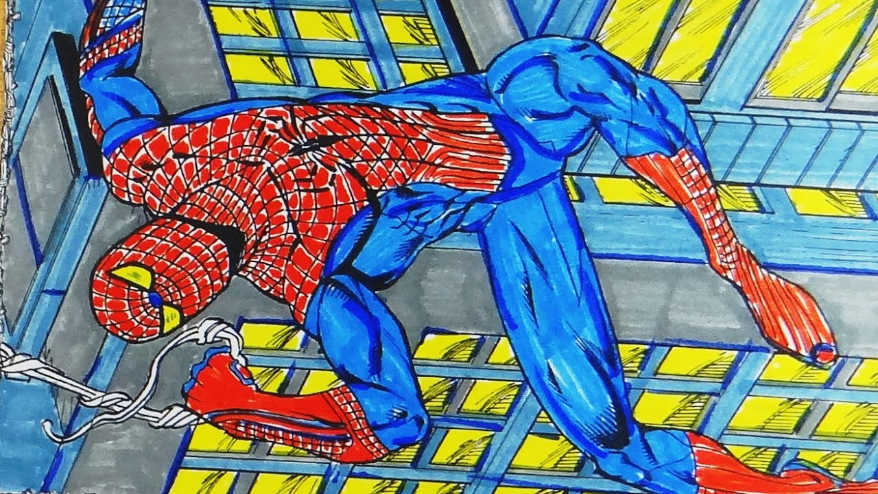 Spiderman coloring games - Spiderman Coloring Games 37