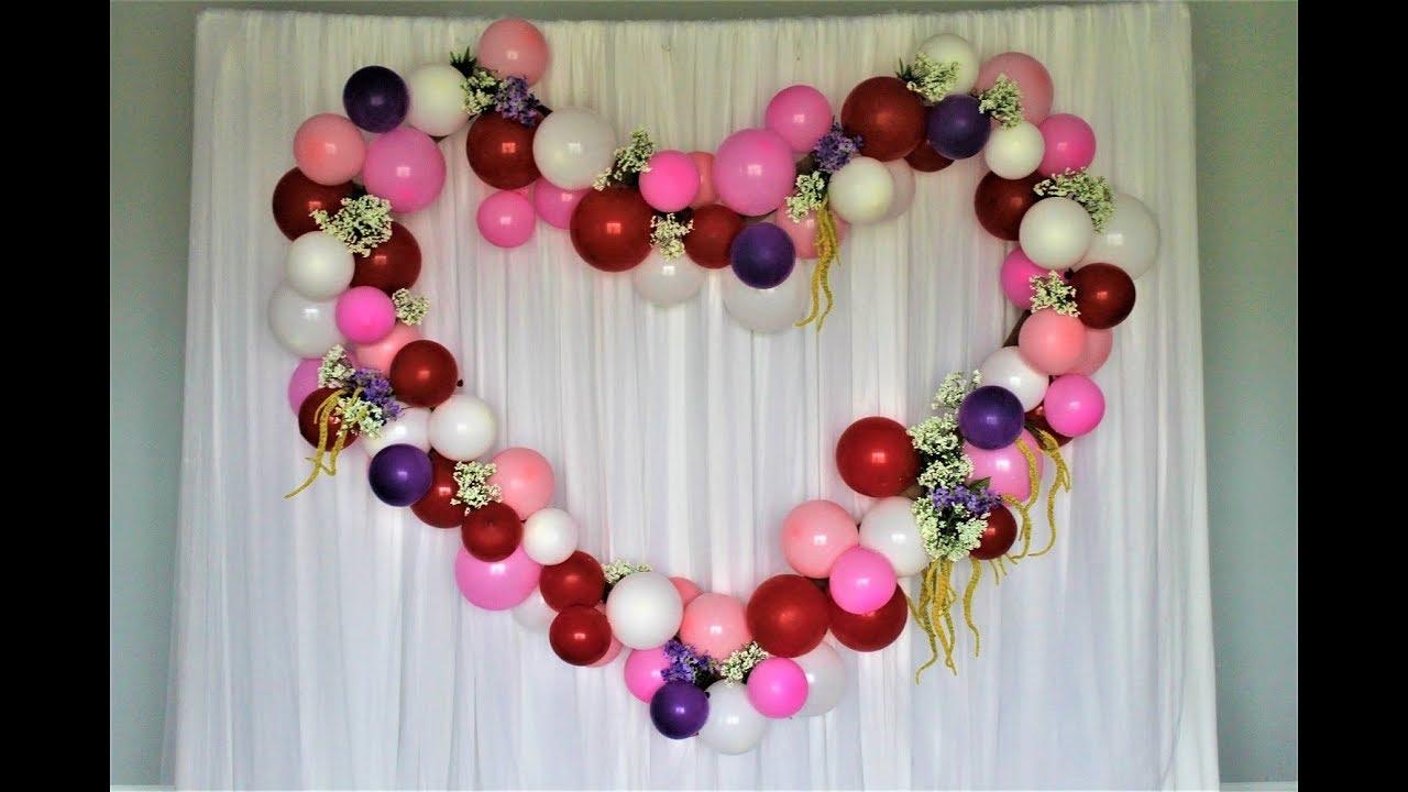 Balloon Heart Backdrop Diy How To Youtube