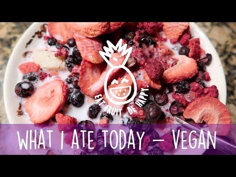 What I Ate Today * Vegan * Raw * Detox * Fruit and Herbs * Fruitarian