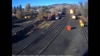 11/06/2018 The ballast train makes its second run of the day this time to Cumbres Pass