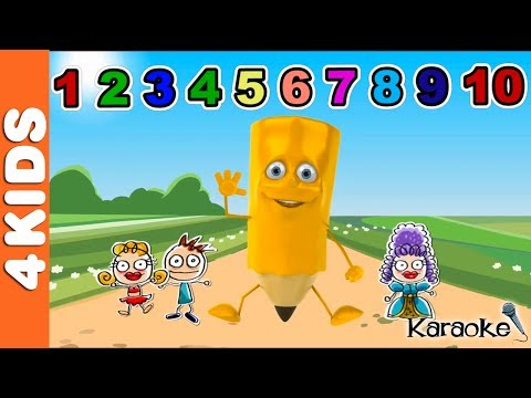 Numbers Song 1 to 10 LEARNING NUMBERS | Karaoke | JUNIORS TOONS