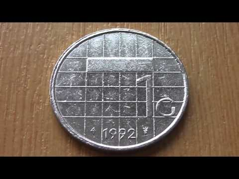 1 guilder - Old coin of the Netherlands from 1992 in HD