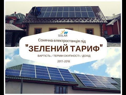 Зелений тариф 2018. Який дохід приносить сонячна електростанція?