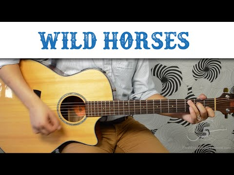Wild Horses - The Rolling Stones | Easy Guitar Tutorial, Basic Chords and Strumming