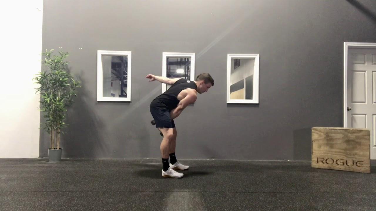 Single Arm Dumbbell Hang Clean & Push Press - YouTube
