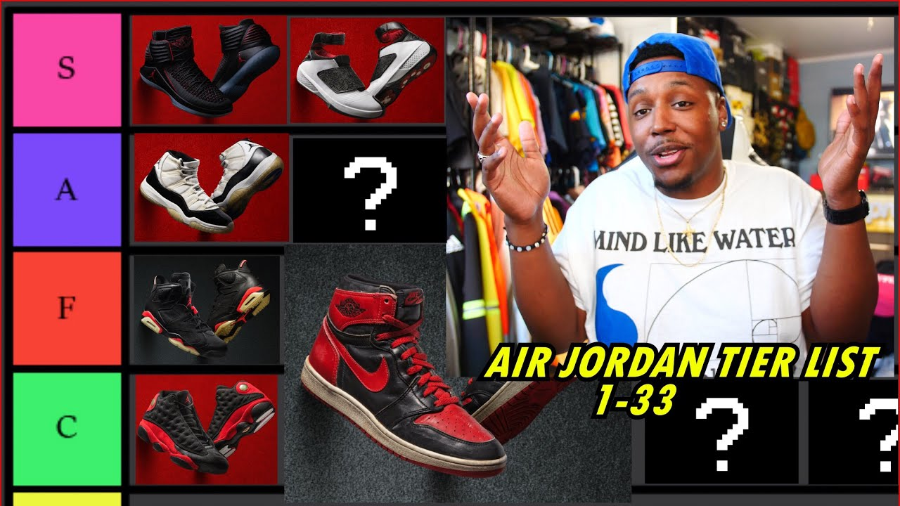 AIR JORDANS 1-33 TIER LIST! BEST