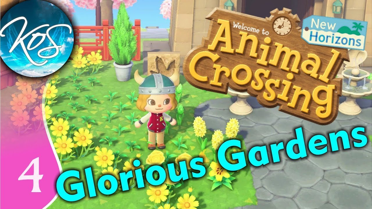 Animal Crossing Designing Flower Beds New Horizons Let S Play