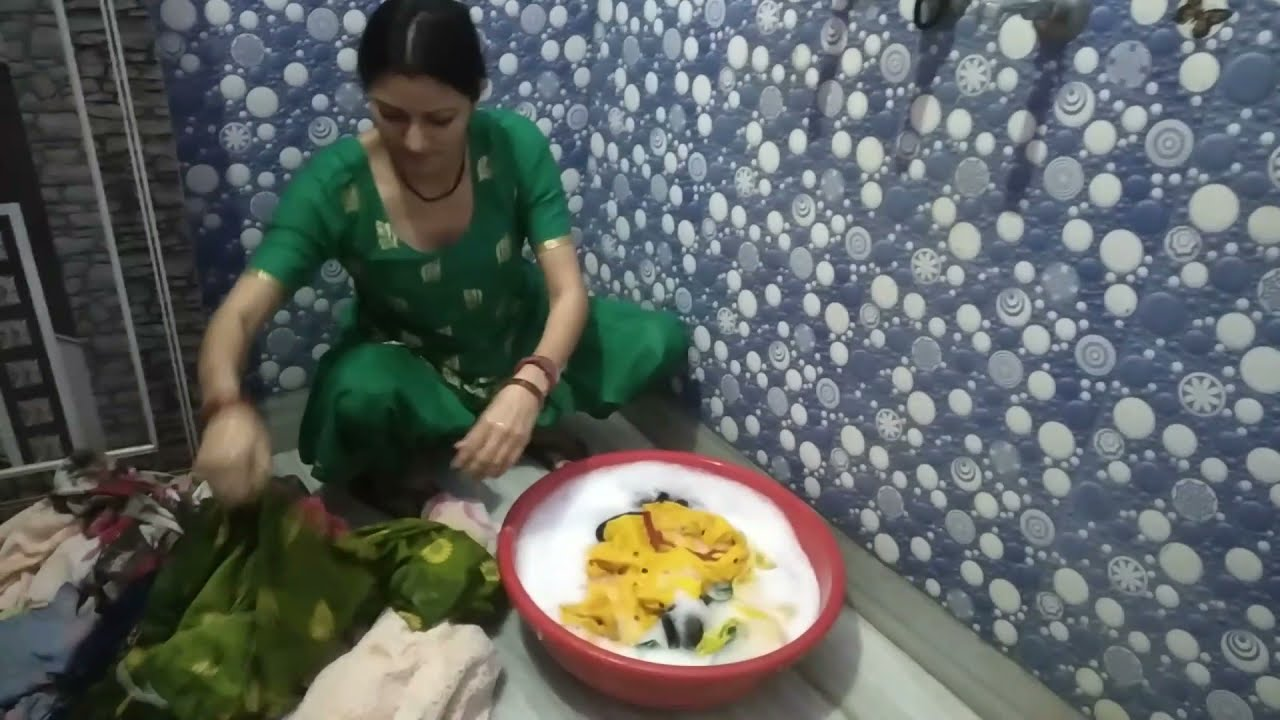 Download Indian Housewife morning cleaning Routine//daily wear washing clothes by hands
