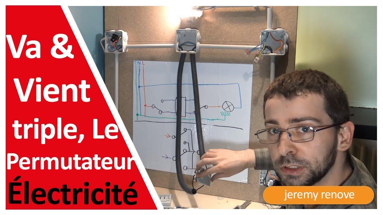 Le Branchement De Trois Interrupteurs Va Et Vient By Schemas