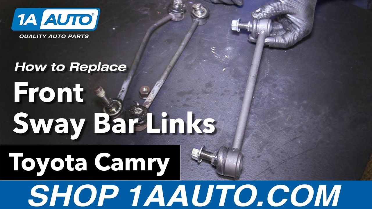 how to replace front sway bar links 06-11 toyota camry