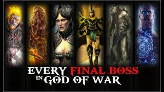 FINAL BOSS in EVERY GOD OF WAR GAME and HOW KRATOS DEFEATED THEM ( In Order ) GAMEPLAY with CUTSCENE