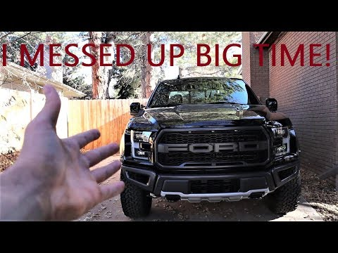 I ALREADY DAMAGED MY BRAND NEW RAPTOR IN THE FIRST 24 HOURS OF OWNERSHIP!!!