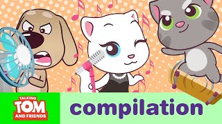 ACTION SUPERSTARS – Talking Tom and Friends Minis Cartoon Compilation (21 Minutes)