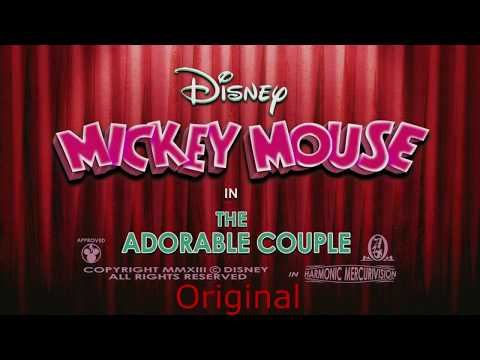 Fan Made Disney Adorable Couple Mickey Mouse Music Cover