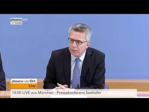 Kriminalstatistik 2016: Pressekonferenz mit Thomas de Maizière und Markus Ulbig am 24.04.17