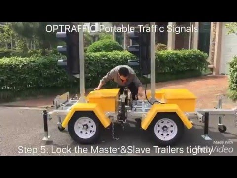 OPTRAFFIC  - Coupling Instruction Solar Powered Portable Traffic Signals