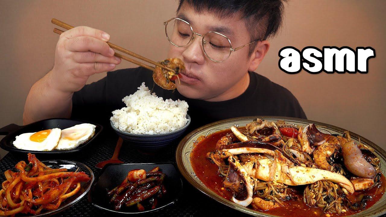 먹방창배tv 오징어넣고 순살 아귀찜 제대로 먹어보자 콩나물에 비벼 비빔밥 Spicy Monkfish with Soybean Sprouts aguijjim mukbang Legend