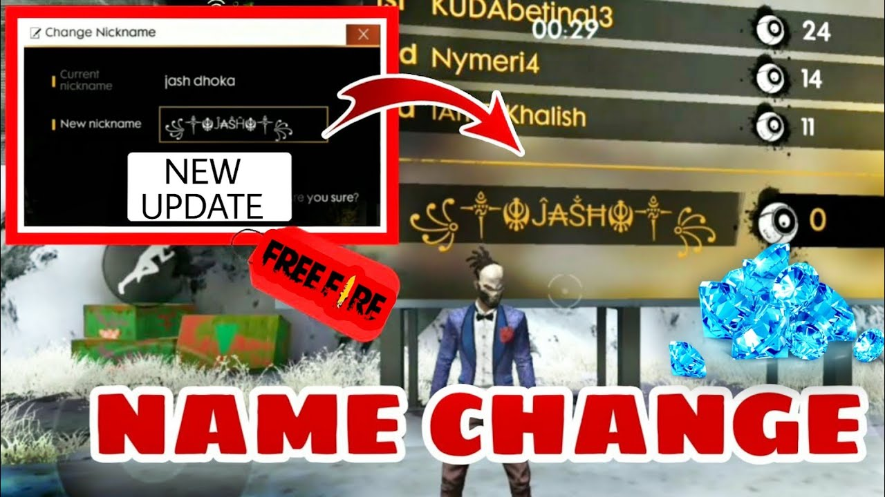 HOW TO CHANGE NAME IN FREE-FIRE /2019 #FREEFIRE