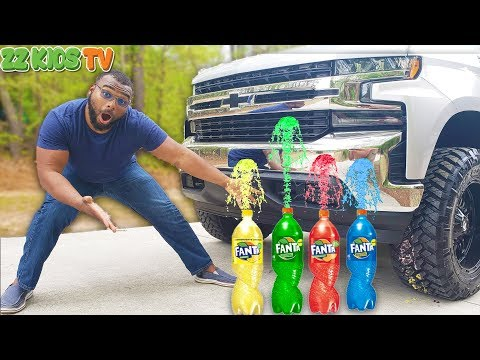 ZZ Dad Crushing Satisfying Food With Monster Truck! (Wait Is That Easter Candy)