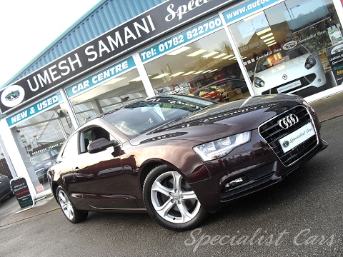 Audi A5 TDI 3.0 Litre Shiraz Red from Umesh Samani Specialist Cars Stoke on Trent.