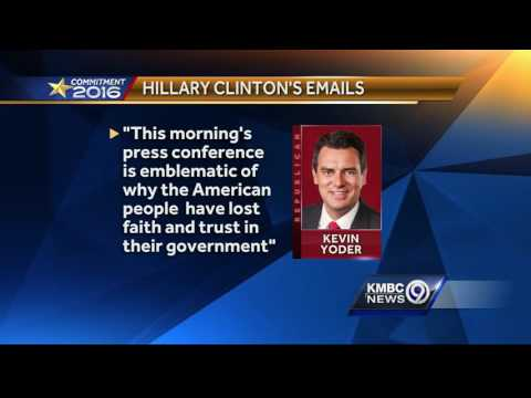 Political reaction to email decision split along party lines