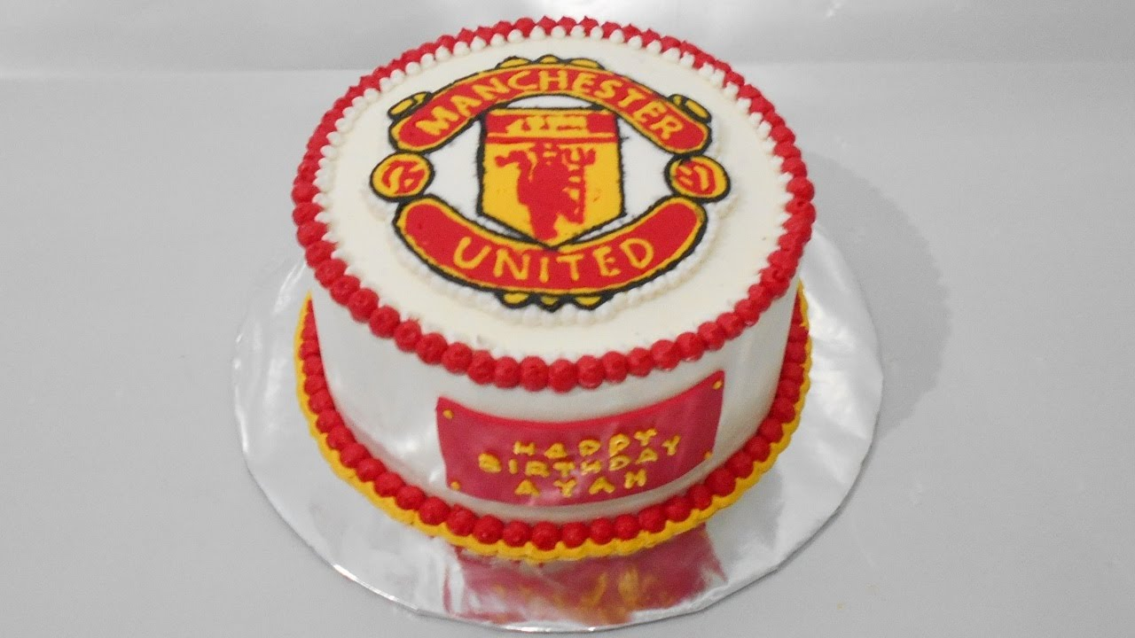 Manchester United Cake Topper Easy YouTube
