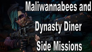 Let's Play Borderlands 3 Maliwannabees and Dynasty Diner Side Missions as FL4K