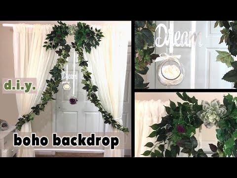 DIY Boho Greenery Wedding Backdrop - Easy and Cheap!