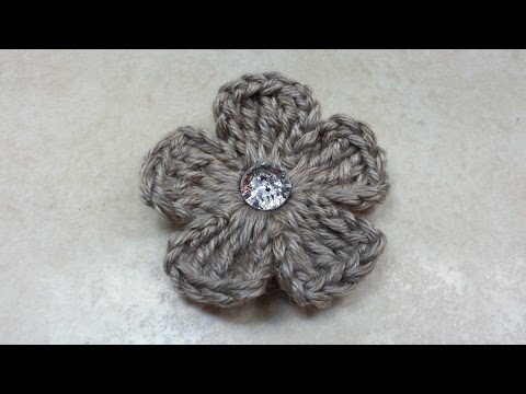 CROCHET How to #Crochet Easy 5 Petal Flower #TUTORIAL #135 LEARN CROCHET