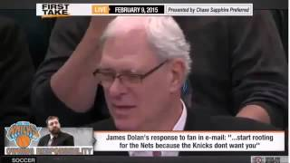 Espn First Take New York Knicks Owner James Dolan