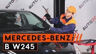 Montaje Escobillas de Limpiaparabrisas delanteras y traseras MERCEDES-BENZ B-CLASS (W245): vídeo gratis