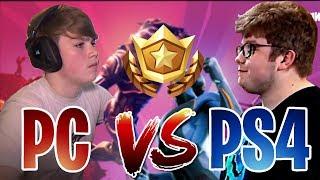 ¡¡PC VS PS4!! *MONGRAAL VS AYDAN*   Fortnite Battle Royale