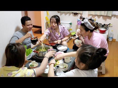 Ăn vịt nấu chao cùng bạn của vợ | Cuộc sống Nhật | ÚT ĐẠT #