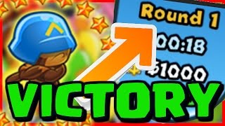 WINNING ON ROUND 1?! - Bloons TD Battles - BTD BATTLES Earliest Defeat Ever!!
