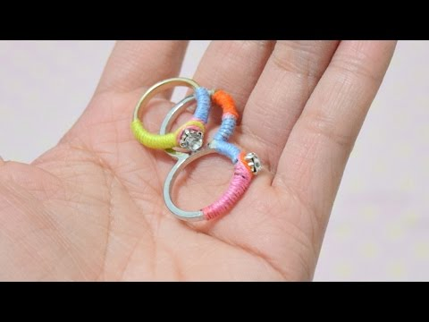 Revamp Old Rings with Yarn and Rhinestones - DIY Style - Guidecentral