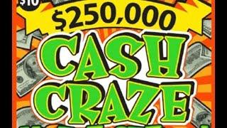 $10 Cash Craze Texas Lottery Scratch Off Ticker