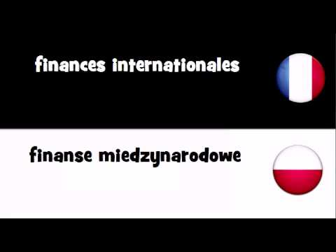 VOCABULAIRE EN 20 LANGUES = finances internationales