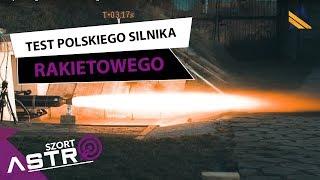 Test polskiego silnika rakietowego i rakieta BIGOS 4 - AstroSzort