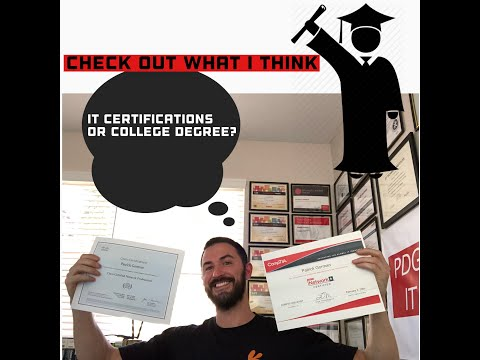IT Certifications or A College Degrees – Which is better for an IT career? From InfoSec Pat – 2019.