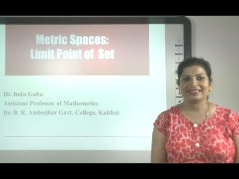 Metric Space Part 6 of 7: Limit Point of a Set in Hindi under E-Learning Program