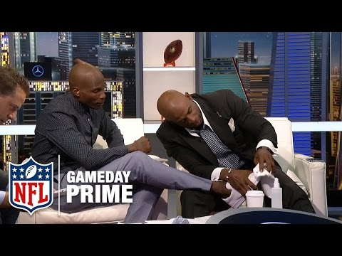 Chad Johnson Does the Rabona Kick but Scuffs His Shoe, Deion Sanders Cleans it for Him | NFL