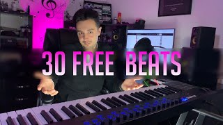 Get 30 FREE Untagged Beats (For Profit Use)