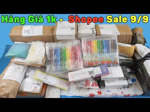 Đống Hàng Giá 1k FreeShip Trên Shopee Dịp 9 Tháng 9 - Mở Hộp Toàn Đồ Ăn, Văn Phòng Phẩm