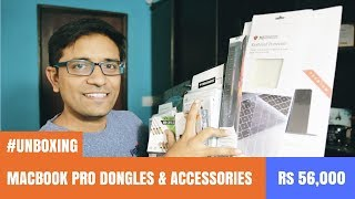 Unboxing Apple Macbook Pro Dongles & Accessories worth Rs 56,000